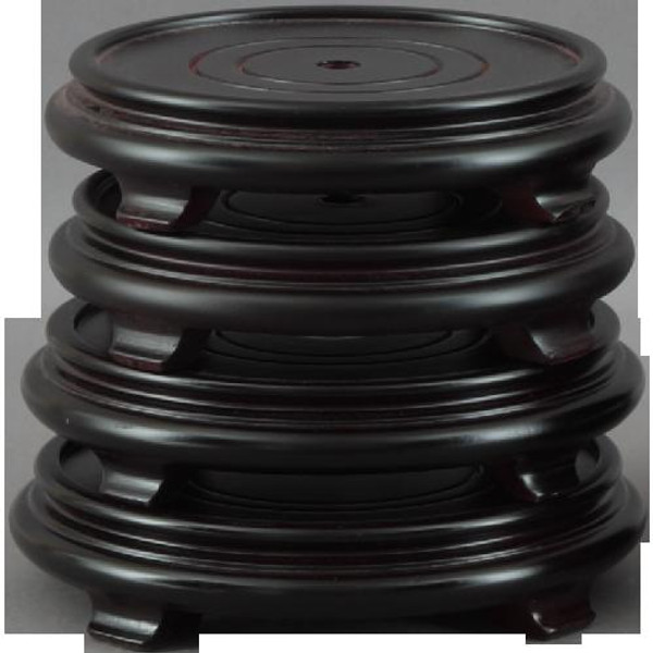 """012-10-00 10"""" Round Wood Stand With Leg And Edge by Oriental Danny"""