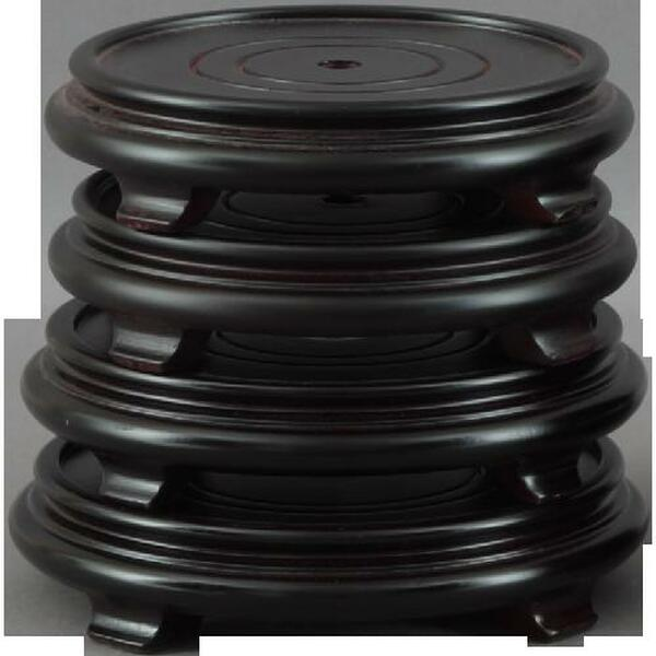 """012-8-75 8.75"""" Round Wood Stand With Leg And Edge by Oriental Danny"""