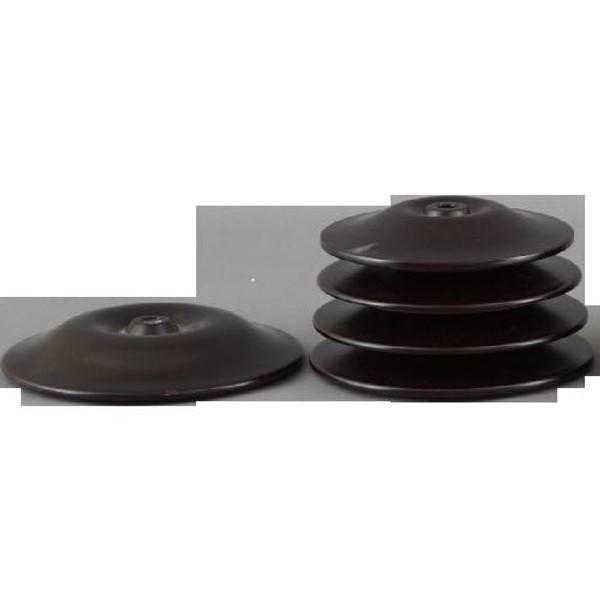 032-3-75 Dark Brown Wood Cap by Oriental Danny