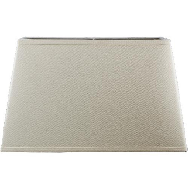 1-830 Rectangular Creme Linen Hard Back Shade by Oriental Danny
