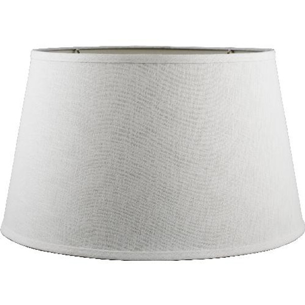 2-847-15 Round White Linen Hard Back Shade by Oriental Danny