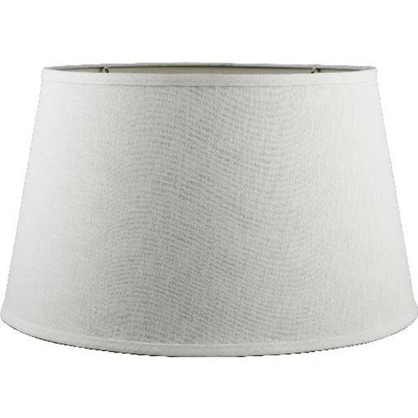2-847-19 Round White Linen Hard Back Shade by Oriental Danny