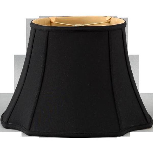 290-19-BK Black Long Oval Lamp Shade 10 X 19 X 13 by Oriental Danny