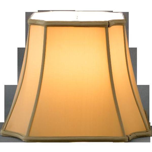 311-13-CH Champagne Inverted Cut Corner Lamp Shade 8.5x13x11