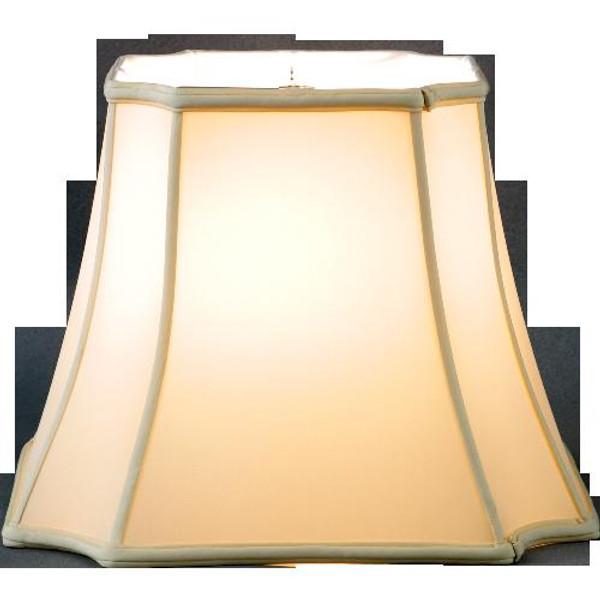 311-17-BE Beige Inverted Cut Corner Rectangle Lamp Shade 10.5x17x12.5