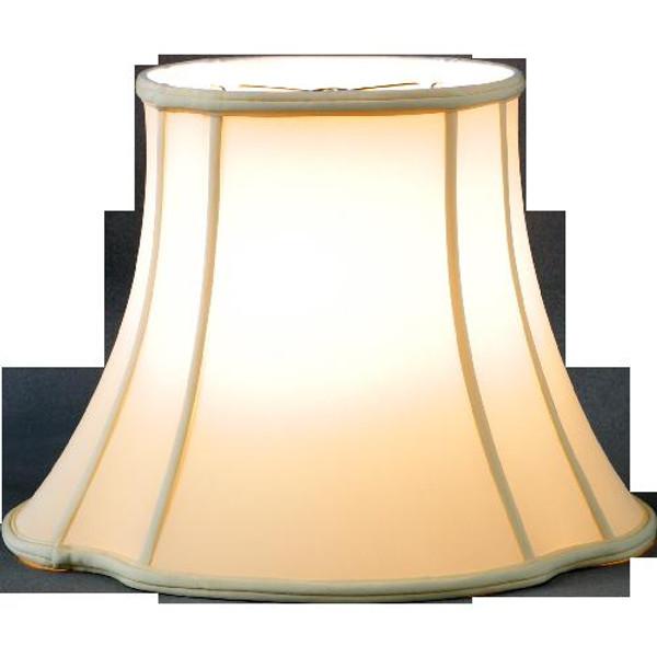 312-10-BE Beige Scallop Cut Corner Lamp Shade 6x10x8 by Oriental Danny