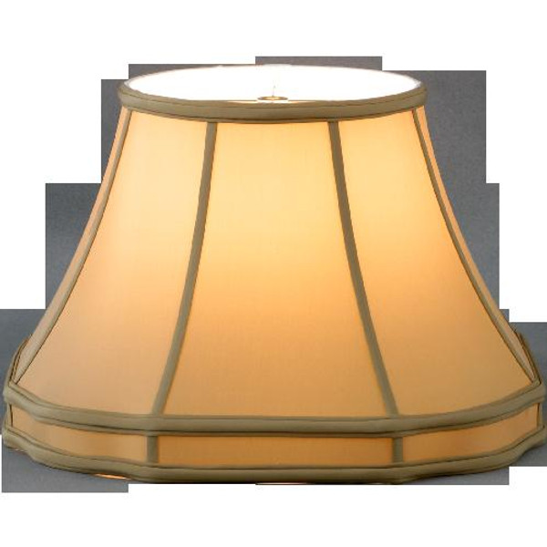 318-16-CH Champagne Octagon Gallery Lamp Shade 9x16x11.25
