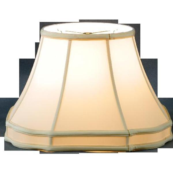 318-20-BE Beige Octagon Gallery Lamp Shade 11x20x13.5 Oriental Danny