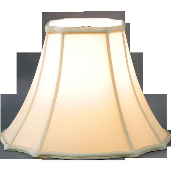 320-08-BE Beige Square Cut Corner Gallery Lamp Shade 4x8x6.5