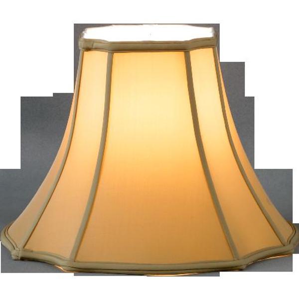 320-18-CH Champagne Square Cut Corner Gallery Lamp Shade 8x18x13.5