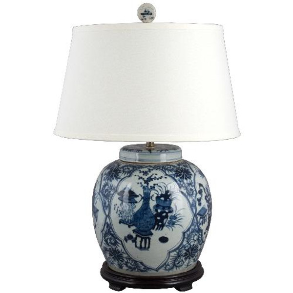 50067-L Blue & White Classic Lamp by Oriental Danny