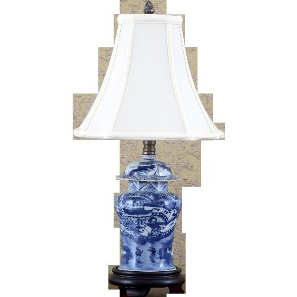 50115-L Blue & White Classic Lamp by Oriental Danny