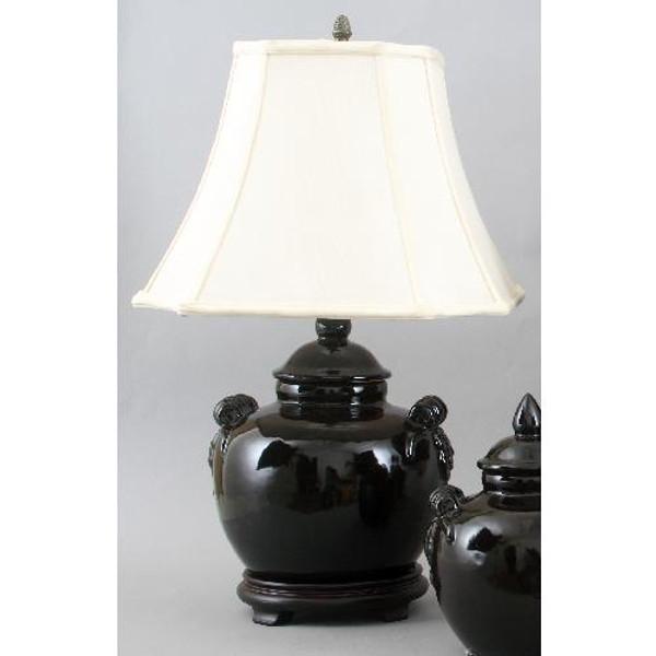 PCM1084-2BK Black Pumpkin Jar Lamp by Oriental Danny
