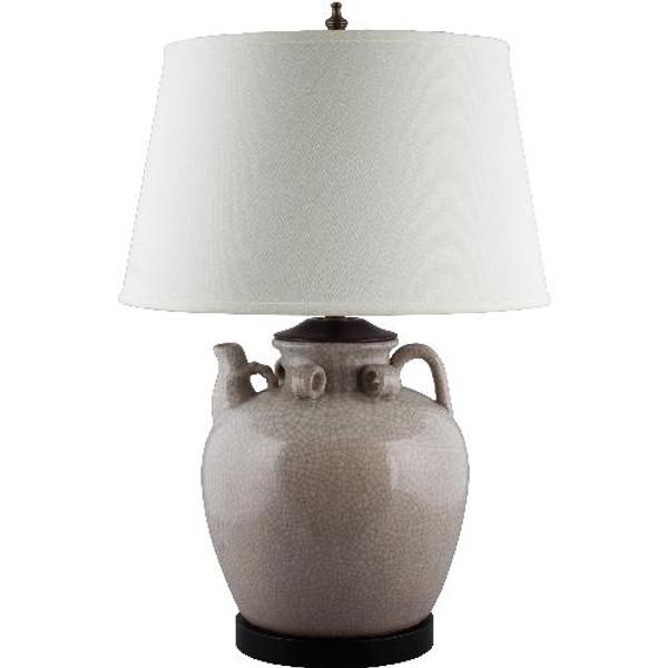 PCM2594-BG-2 Large Tea Jar Lamp - Beige by Oriental Danny