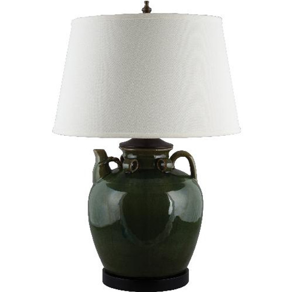 PCM2594-GN-2 Large Tea Jar Lamp - Green by Oriental Danny