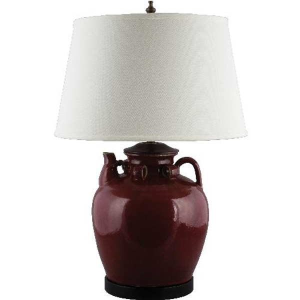 PCM2594-RD-2 Large Tea Jar Lamp - Red by Oriental Danny