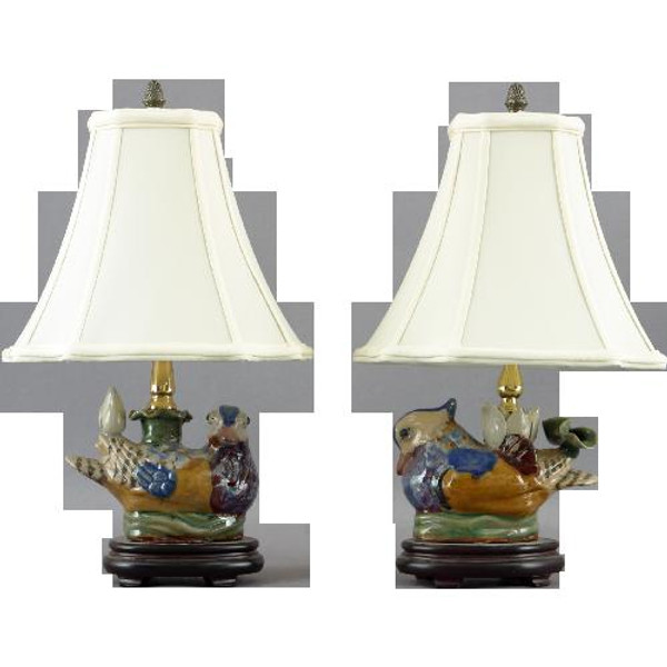 PKB43 Pair Goose Candle Stick Lamp by Oriental Danny