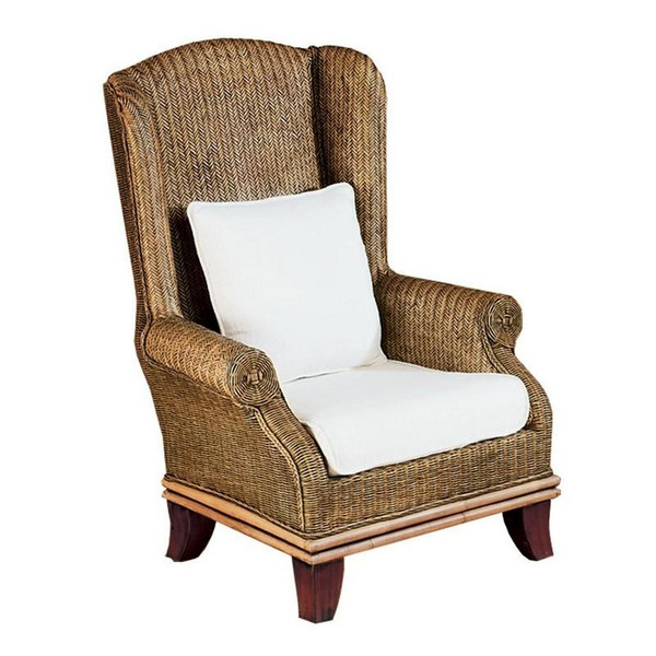 255-1 Bali Wing Chair - Natural Antique