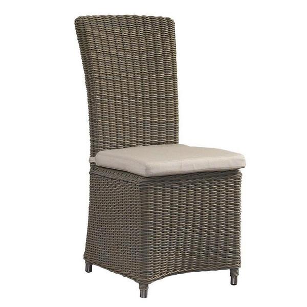 OL-NCO12-ECO Outdoor Nico Kubu Grey Chair With White Cushion