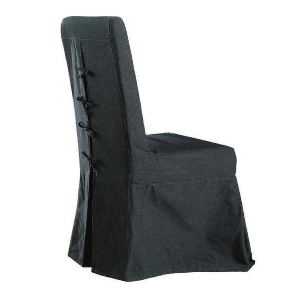 PCB12S-BLK Black Slipcover For Pacific Beach Dining Chair