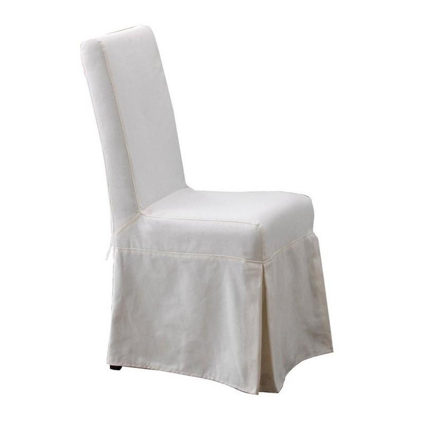 PCB12S-SBW Pacific Beach Dining Chair Slipcover - Sunbleached White