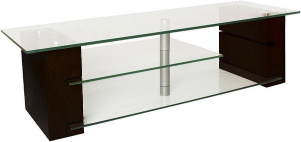 "BALANCE59E Plateau Wood And Glass 59"" Tv Stand, Espresso Finish"