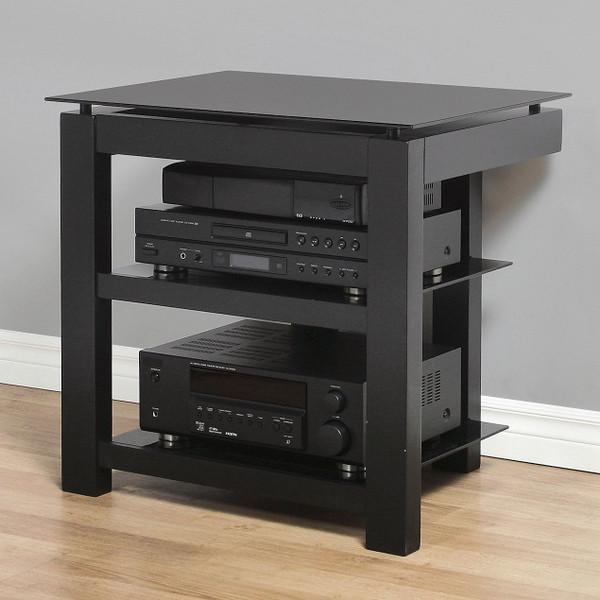 SL3V26 Plateau Wood And Glass Tv Stand