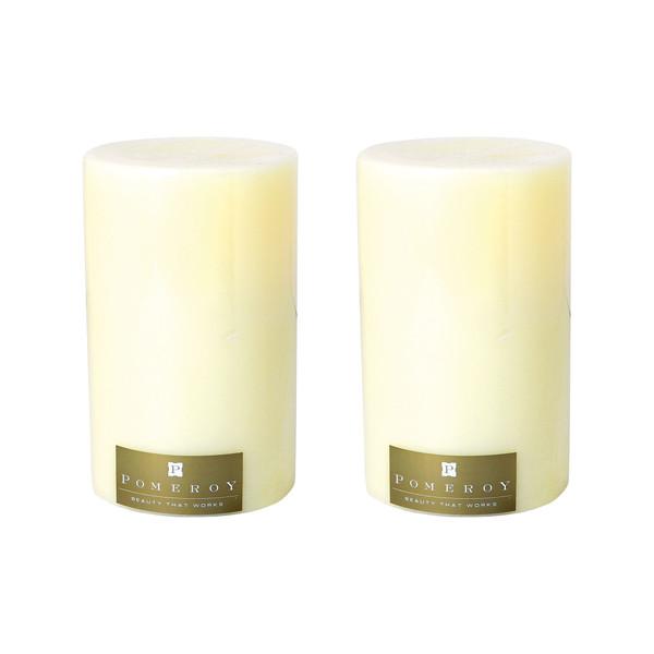 """Pomeroy Set Of 2 Pillar Candles - 5X8"""" 030079/S2"""