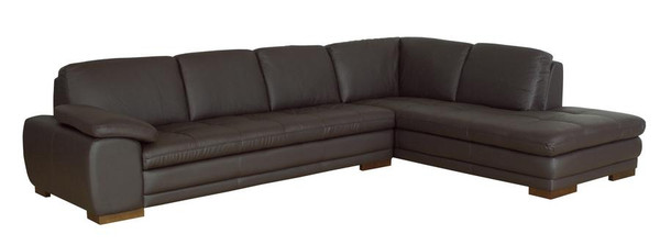 Diana Brown Sofa/Chaise Sectional 625-M9805-Sofa/lying-Leather/Match (M)