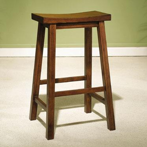 """Honey Brown Saddle Seat Bar Stool - 29"""" 455-431 by Powell"""