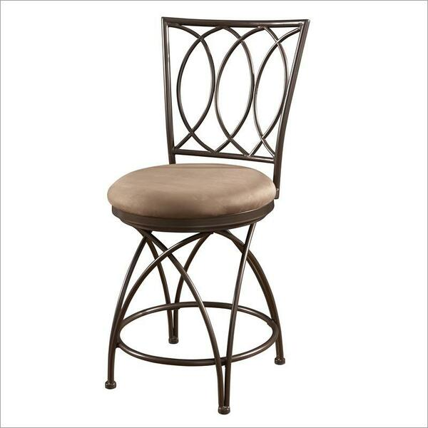 Powell Big And Tall Metal Crossed Legs Counter Stool 586-918