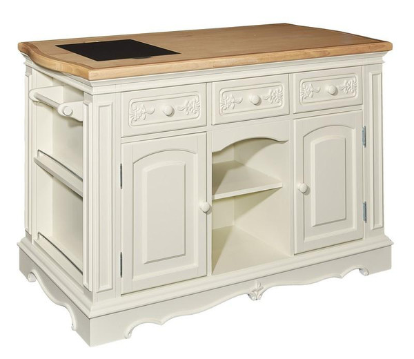 Powell Pennfield White Kitchen Island D1030D16WI