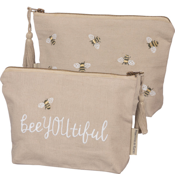 100193 Zipper Pouch - Bee You Tiful - Set Of 4 By Primitives by Kathy