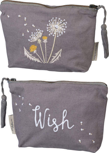 100194 Zipper Pouch - Wish - Set Of 4 By Primitives by Kathy