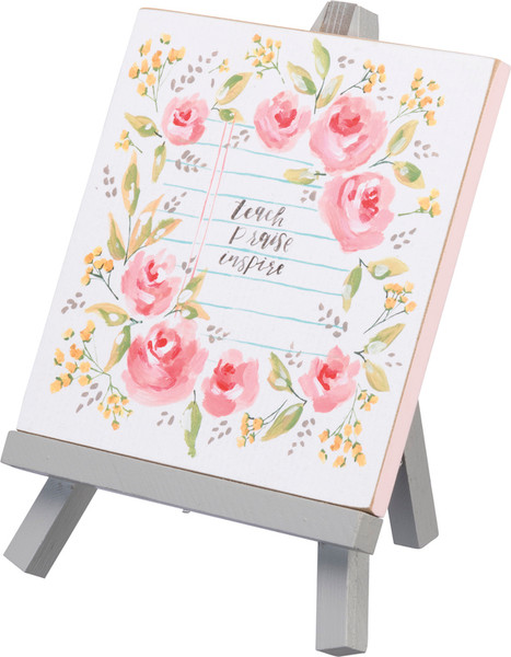 Easel - Teach Praise Inspire - Set Of 4 (Pack Of 2) 100230 By Primitives By Kathy