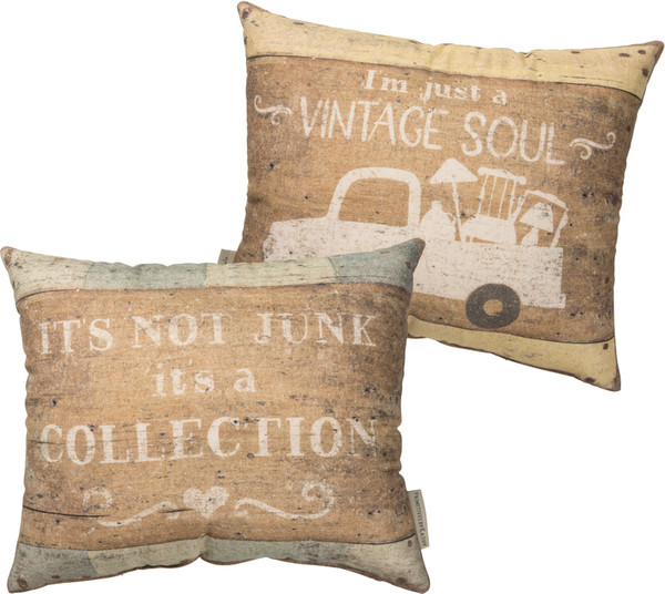 100279 Pillow - Just A Vintage Soul - Set Of 2 By Primitives by Kathy