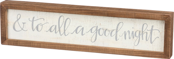 100299 Inset Box Sign - And To All - Set Of 2 By Primitives by Kathy