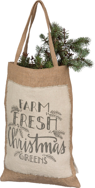 100321 Hanging Bag - Christmas Greens - Set Of 2 By Primitives by Kathy