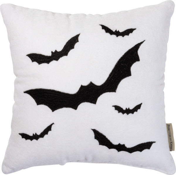 100380 Pillow - Bats - Set Of 2 By Primitives by Kathy