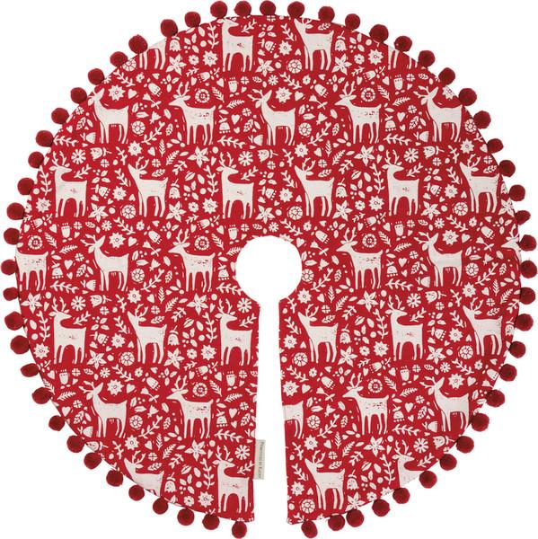 100608 Tree Skirt - Reindeer - Set Of 2 By Primitives by Kathy
