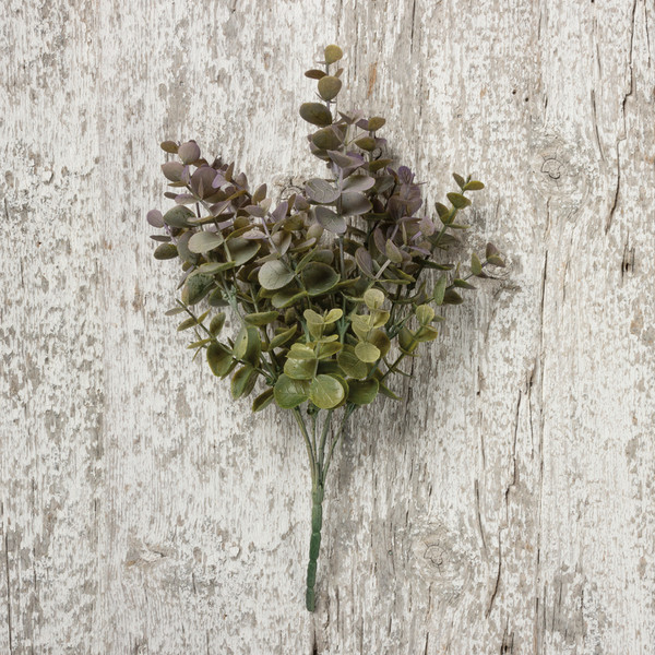 100728 Floral Pick - Eucalyptus Gray - Set Of 12 By Primitives by Kathy