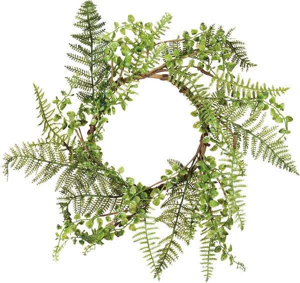 100740 Wreath - Mixed Greens - Set Of 6 By Primitives by Kathy