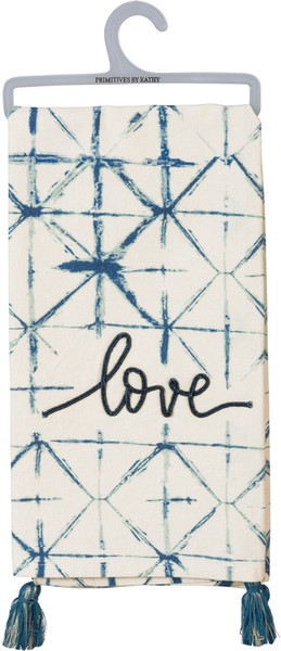 Dish Towel - Love - Set Of 3 (Pack Of 2) 100871 By Primitives By Kathy