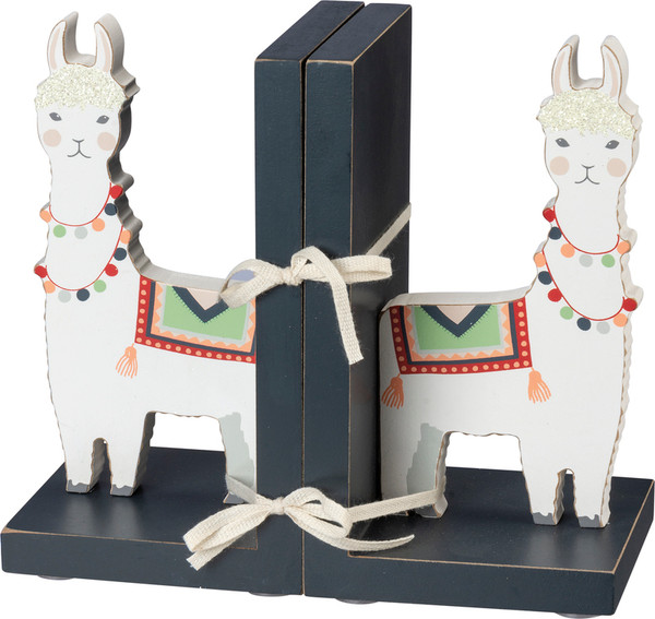 100897 Bookends - Llama - Set Of 2 By Primitives by Kathy