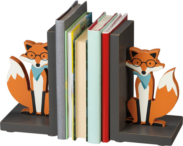 100905 Bookends - Fox - Set Of 2 By Primitives by Kathy