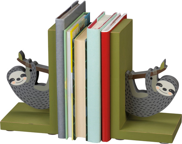 100915 Bookends - Sloth - Set Of 2 By Primitives by Kathy