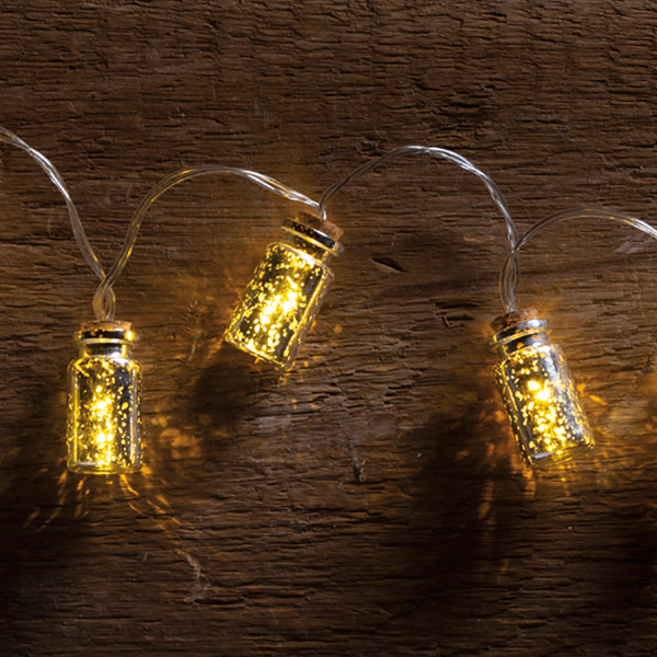 100948 Jar Lights - Silver Mercury - Set Of 4 By Primitives by Kathy