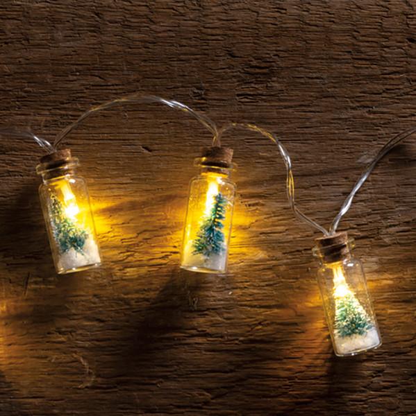 100949 Jar Lights - Bottle Brush Tree - Set Of 4 By Primitives by Kathy