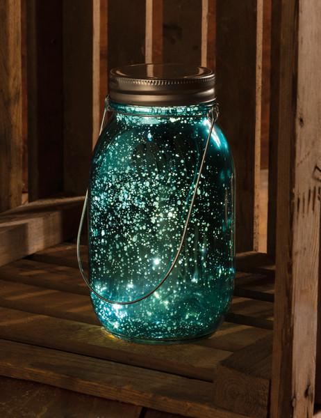 101028 Glass Lantern - Blue Mercury - Set Of 6 By Primitives by Kathy