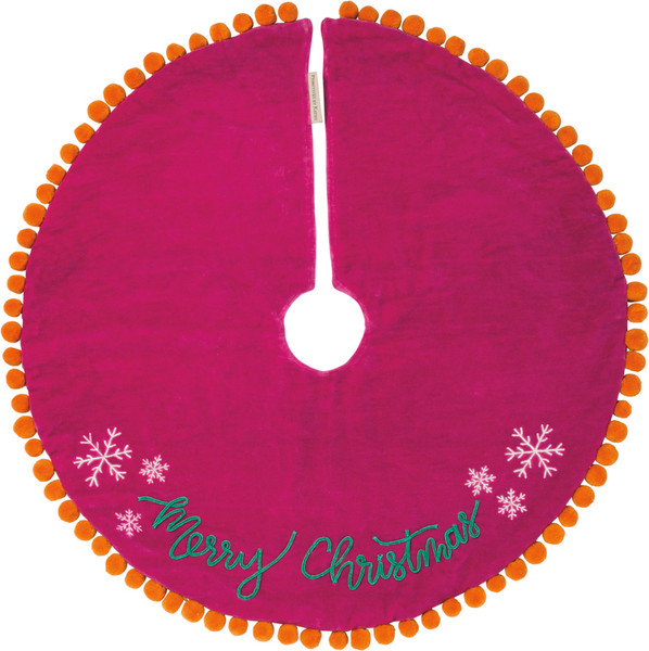 101059 Tree Skirt - Merry Christmas - Set Of 2 By Primitives by Kathy